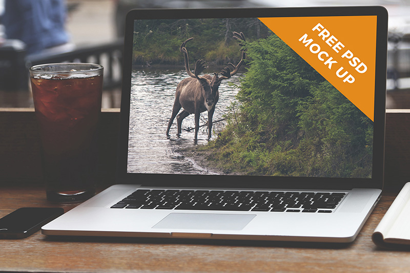unique MacBook Pro Mockup in PSD for free download