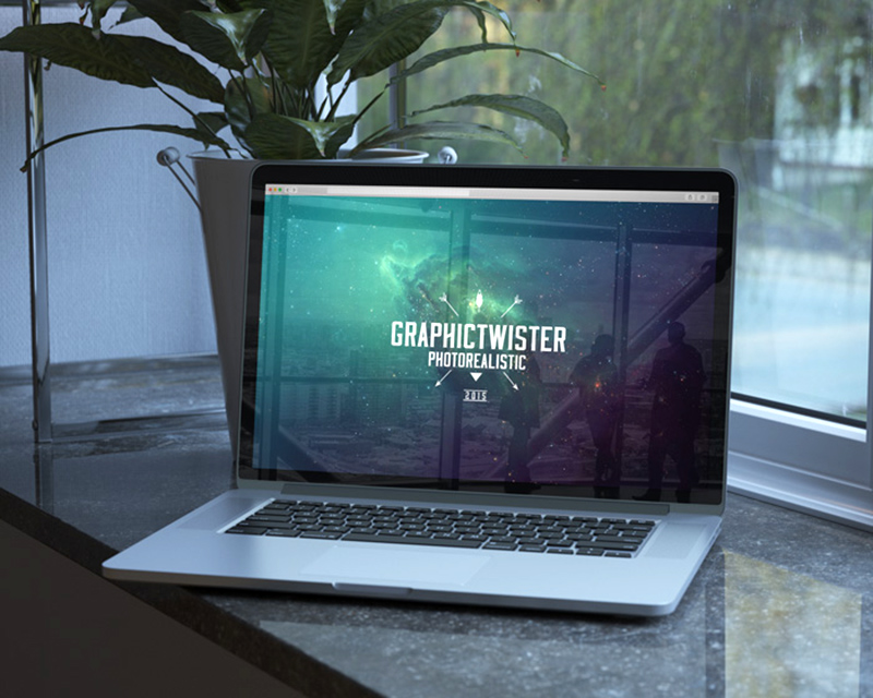 awesome MacBook Pro Mockup in PSD for free download