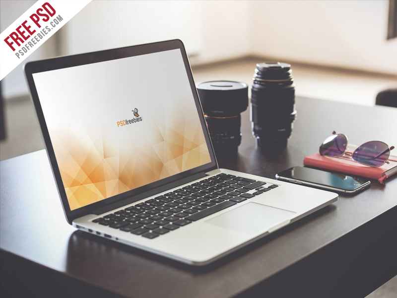 coolest MacBook Pro Mockup in PSD