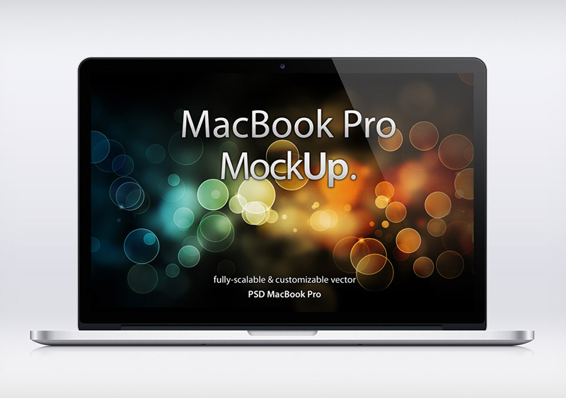 great MacBook Pro Mockup in PSD