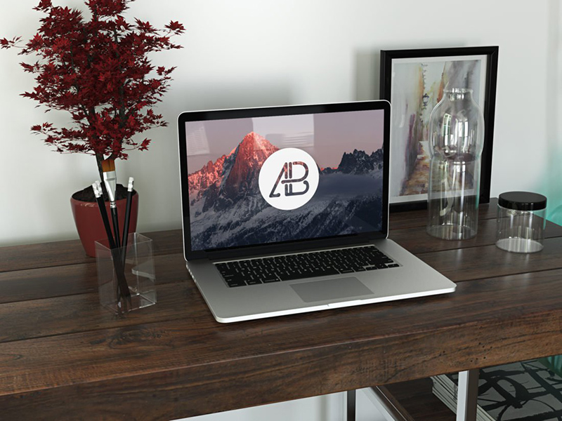 nicest MacBook Pro Mockup in PSD for free download