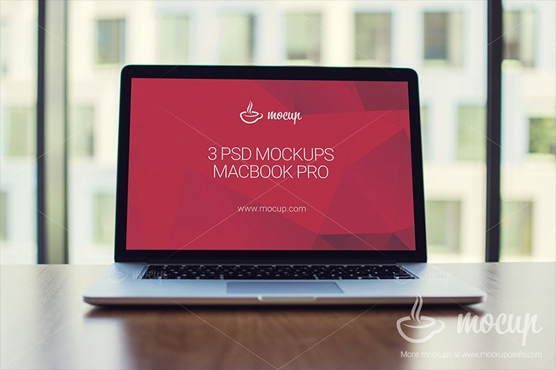 macbook pro template psd