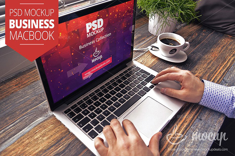 apple macbook air psd mockup