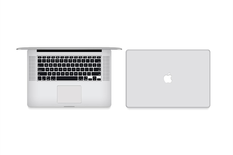 macbook pro retina psd template