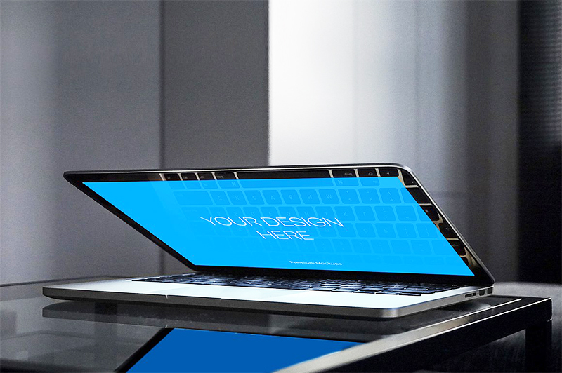 apple macbook pro mockup psd